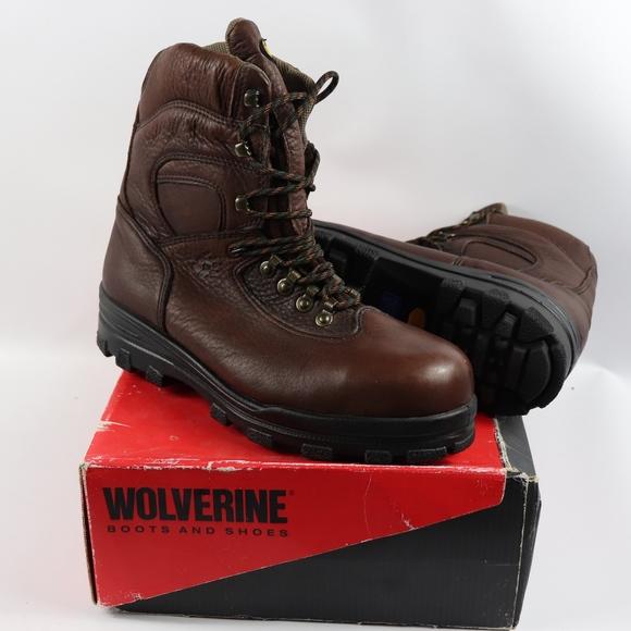 a4339dd8b6a New Wolverine Mens 11 M Steel Toe Durashock Boots NWT